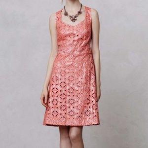 Maeve Coralshine Eyelet Mini Dress 4